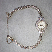 Gorgeous 14k White Gold and Diamond Ladies Hamilton Watch