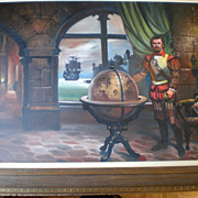 "Original ""Lloyd Garrison"" Historical Oil Painting - Spanish Explorer"
