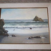 Fabulous California Seascape Original Oil - Robert Wee