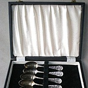 Fabulous Boxed Set Columbia Exposition Souvenir Spoons