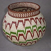 Gorgeous Wounaan Panama Colorful Basket