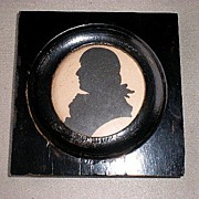 Marvelous 19th Century Miniature Silhouette Portrait - Robert Burns