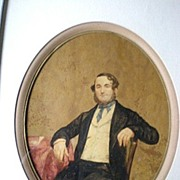 Fabulous Antique Original Portrait Painting