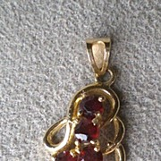 Beautiful 14k Gold and Garnet Pendant