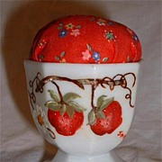 Hand Painted Strawberry Pin Cushion