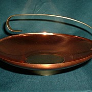 Retro Coppercraft Guild Copper and Brass Dish