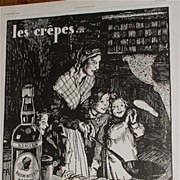 1929 Mom Making Crepes with Negrita Rum French Advertisement