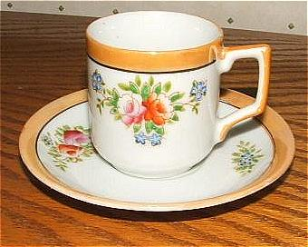 Dainty Occupied Japan Demitasse Cup and Saucer