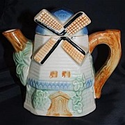 Darling Dutch Windmill Teapot / Made In Japan