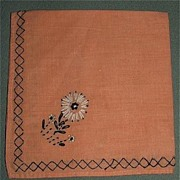 Set of Four Home Made Embroidered Napkins
