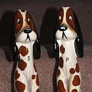 "Large 11"" Dalmatian Dogs Salt And Pepper Shakers"