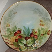 Antique Delinieres & Company Limoges Berries Hand Painted Plate