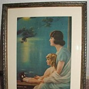 "Art Deco  Mother And Child ""Dreaming Time"""