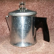 Shabby Little Two Cup Aluminum Percolator