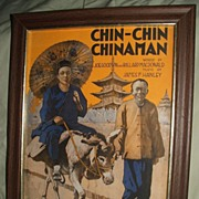 Antique 1917 Chin-Chin Chinaman Sheet Music Art