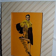 "1930's Billy DeVorss ""Lets Go"" Glamor Print / Pin Up / Calender"