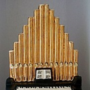 Unique Decorative Porcelain Pipe Organ