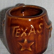 Pottery Texas Shot Glass / Toothpick Holder