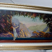 "SALE PENDING Art Deco 1930's ""Dawn"" Fantasy Maiden Print Robert Wood"