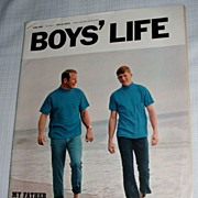 1969 Boy's Life Magazine / Mickey Mantle And Son
