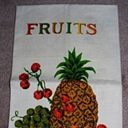 Mixed Fruits Pure Linen Kitchen Towel