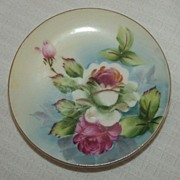 Petite Hand Painted Plate / Roses / Made In Japan