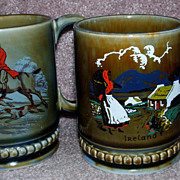 Pair Of Irish Porcelain Coffee Mugs
