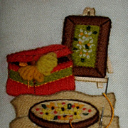 Small Embroidery Piece / Sewing Room