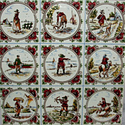 Non Traditional Delft Tile / Handpainted