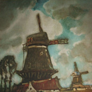 Old Masters Style Dutch Windmill Print / Ready To Frame