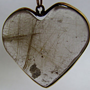 SALE PENDING Reticulated Quartz Heart Pendant / Hand Made Gift Of Love / One Of A Kind