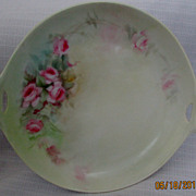 Delicate Antique Hutschenreuther Hand Painted Handled Plate