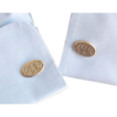 Oval Initial RRD Gold Filled Cufflinks Cuff Links