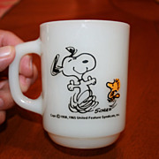 Charles Schulz Snoopy Fire King Mug At Times Life Is Pure Joy