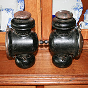 REDUCED Rare Ford Model T Canadian Kerosene Side Lamps Clasco 8