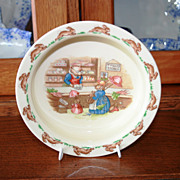 Royal Doulton Bunnykins Mr Piggly's Stores Children's Porridge Bowl