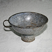 Blue Speckled Granite Ware Enamel Ware Canning Funnel
