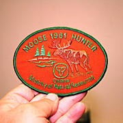 Original Ontario Canada 1981 Successful Moose Hunter Patch Crest