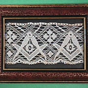 SALE Late 1800s Bobbin Lace with Masonic Emblems