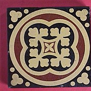 SALE c1870 Encaustic English Tile by William Godwin, Lugwardine, Hereford