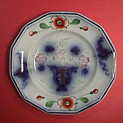 SALE c1845 Ironstone Gaudy URN & Flowers pattern on small 7.5 inch Plate