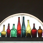 SALE Ten Colorful Hand Blown Bottles for Display or Decoration (dating c1765 up to 1890+)