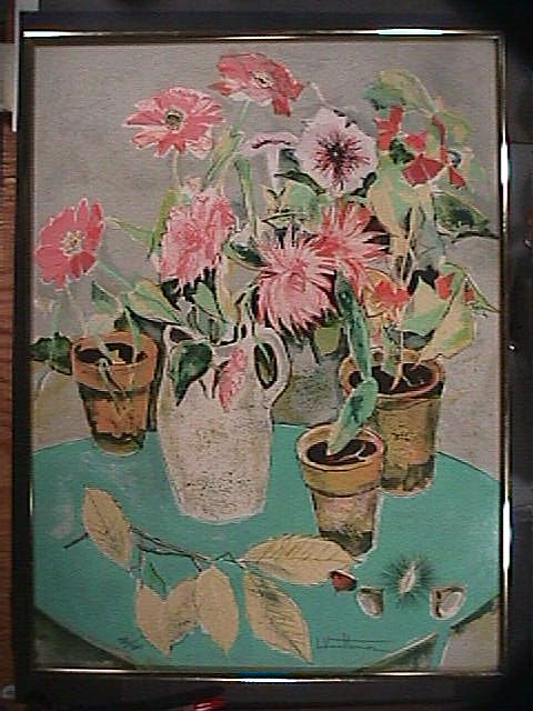 Still Life Potted Flowers (signe
