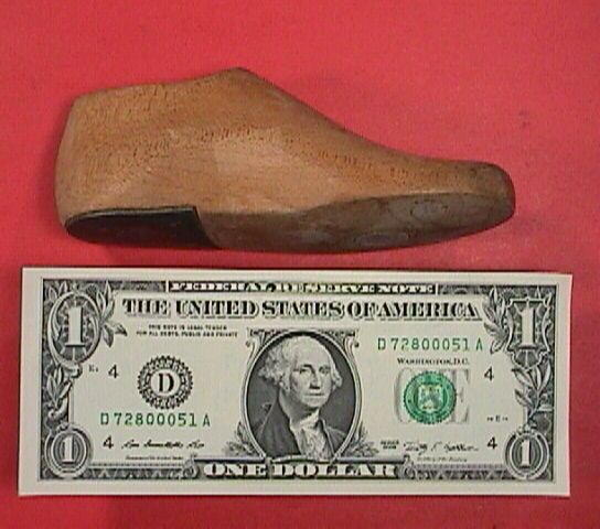 Early 20th C Child's Wooden Shoe Last Size