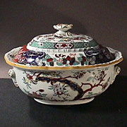 SALE c1855 Hand Painted Japan Imari Mason�s Patent Ironstone large Tureen & Cover