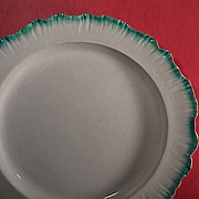SALE c1780 Wedgwood green feather edge pearlware 11+ inch Charger (aka Shell-edge)