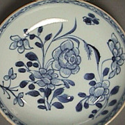 SALE c1735 Chinese Blue & White Export Saucer PERFECT Condition (4.25 inch diam.)