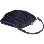 REDUCED 1940s Midnight Blue Evening Bag