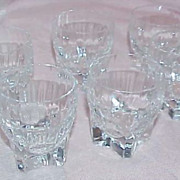 SALE SALE  - SALE - SALE Beautiful Aperitif Crystal Glasses (6)