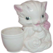 Vintage HULL ART Pink Kitty Planter